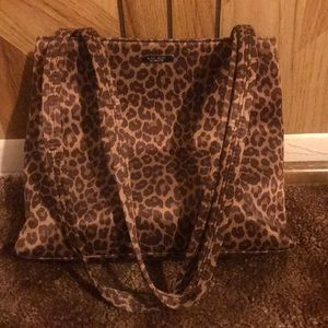 Leopard print Nine West purse and wallet
